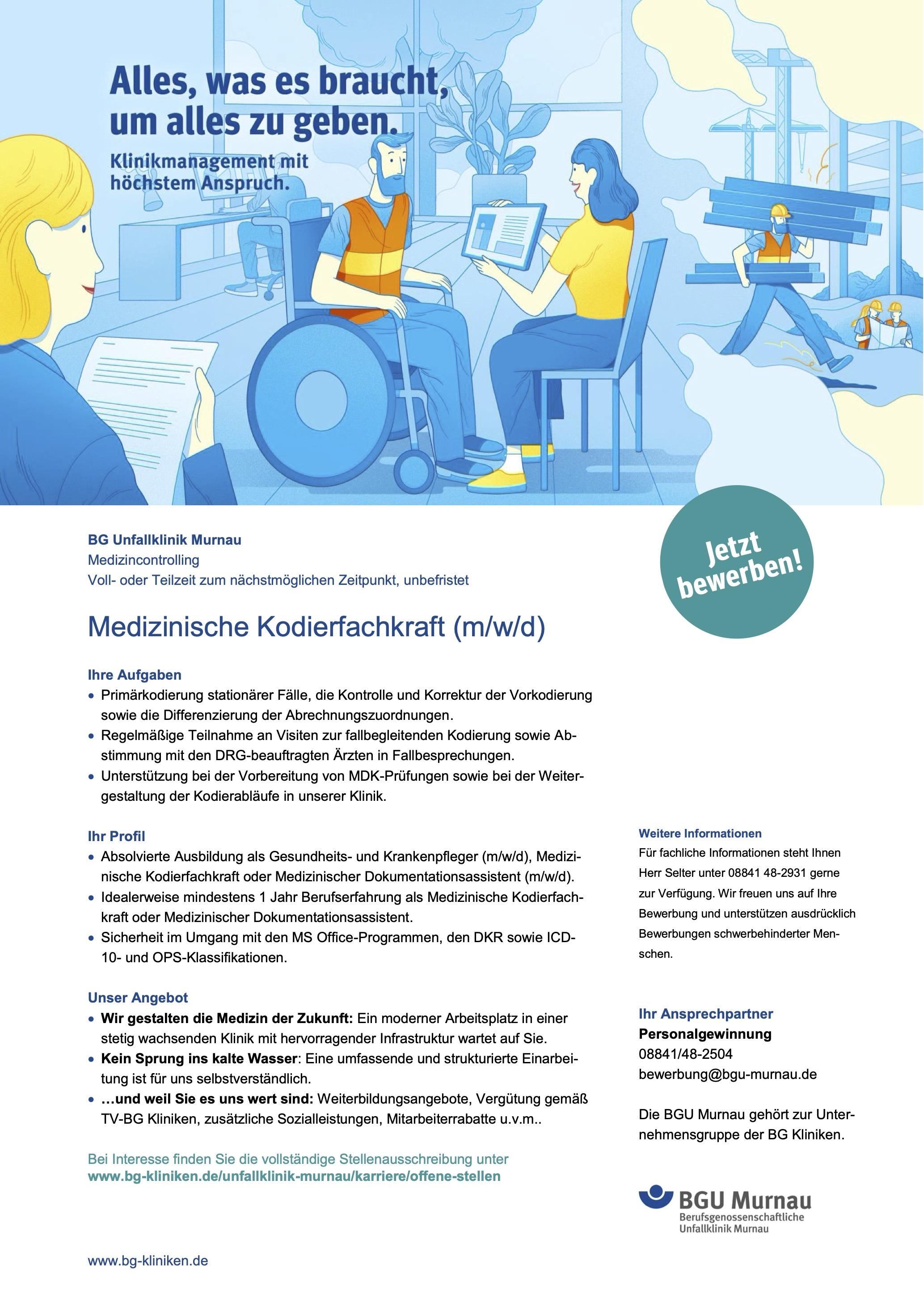 Medizinische Kodierfachkraft (m/w/d)