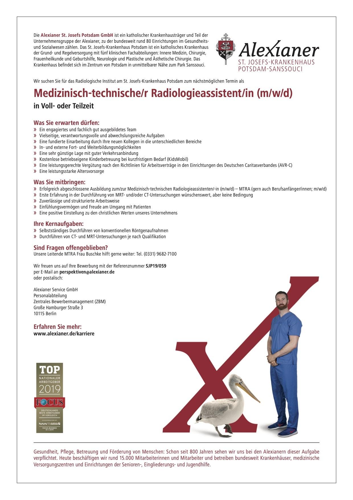 Medizinisch-technische/r Radiologieassistent/in (m/w/d)
