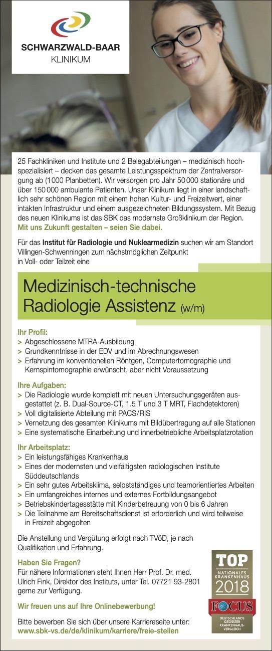 Medizinisch-technische Radiologie Assistenz (w/m)
