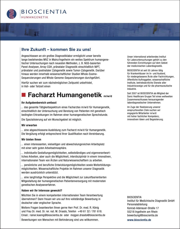 Facharzt Humangenetik m/w/d
