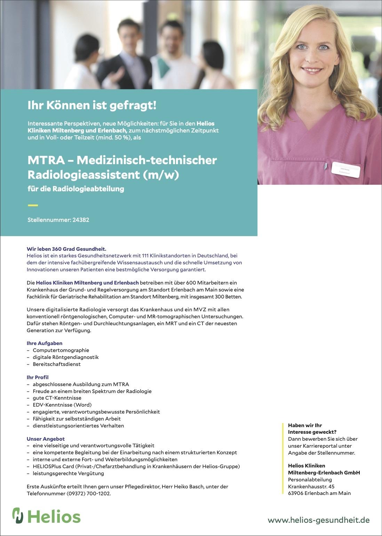 MTRA – Medizinisch-technischer Radiologieassistent (m/w)