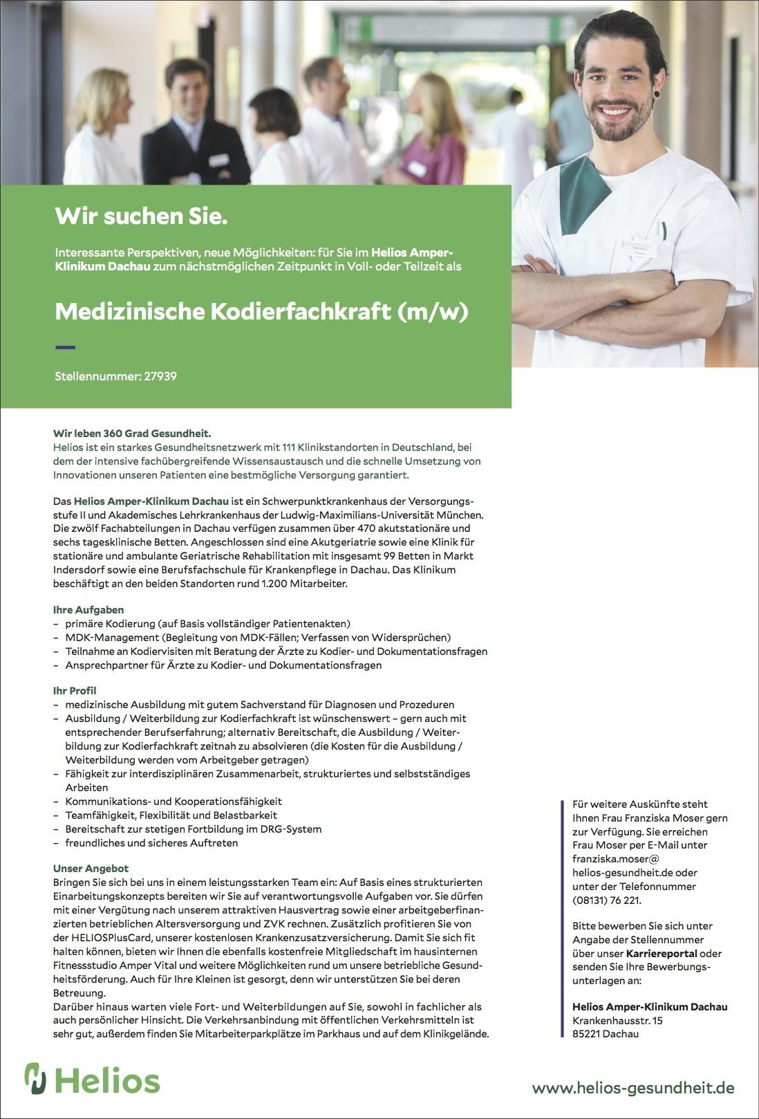 Medizinische Kodierfachkraft (m/w)