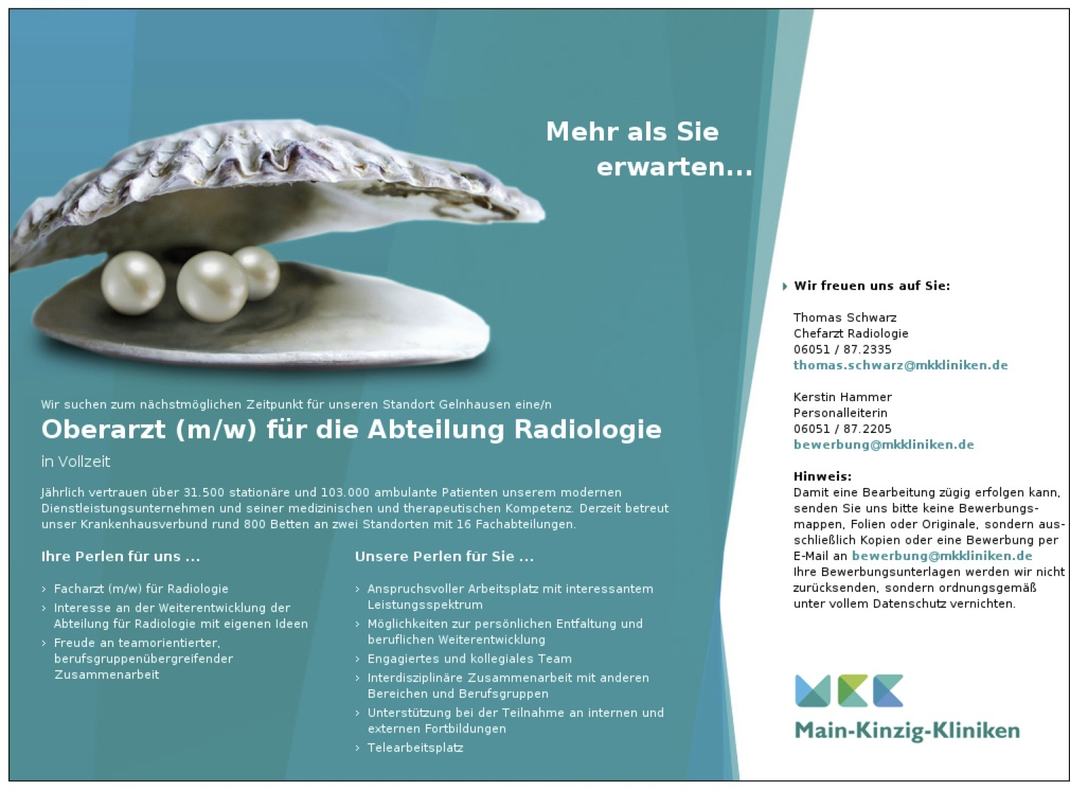 Oberarzt (m/w) für die Abteilung Radiologie