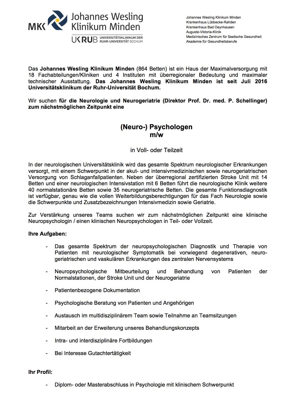 Johannes Wesling Universitäts-Klinikum Minden