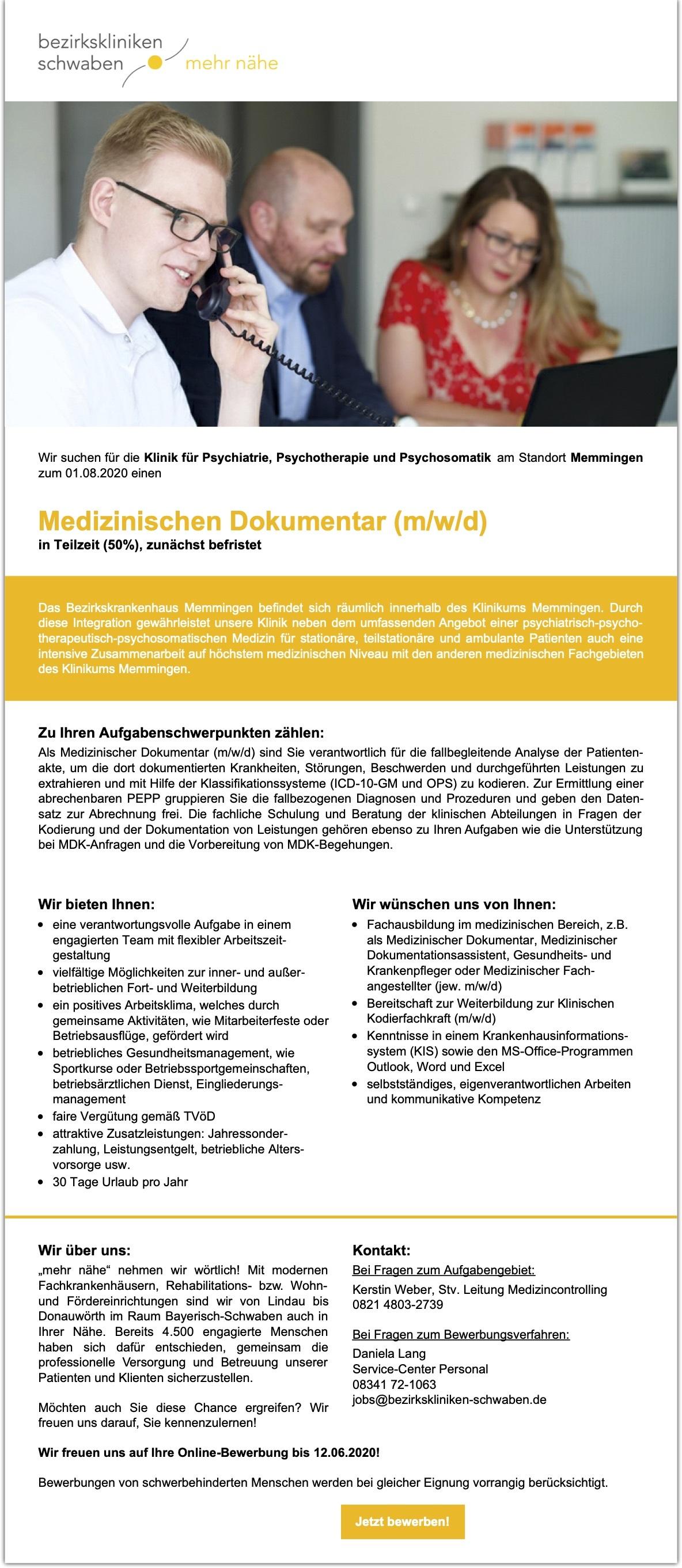 Medizinischer Dokumentar (m/w/d)