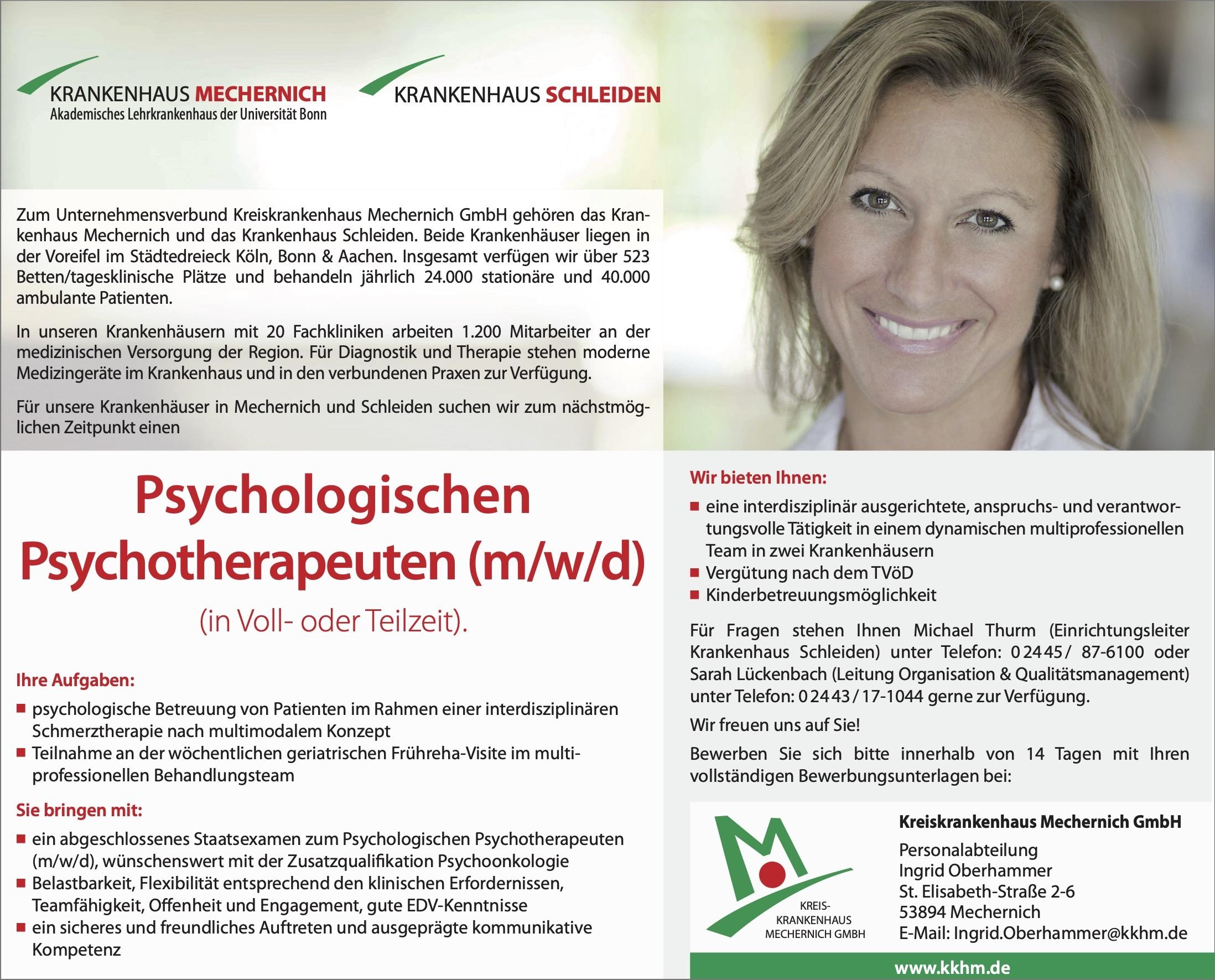 Psychologischen Psychotherapeuten (m/w/d)