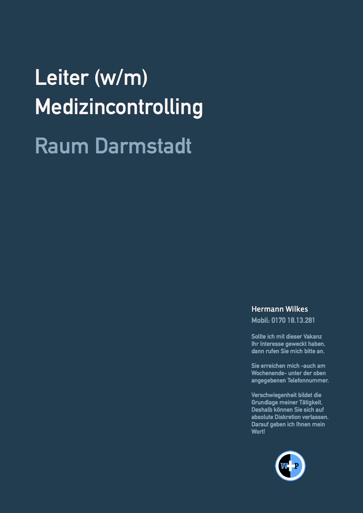 Leiter (w/m) Medizincontrolling - Raum Darmstadt