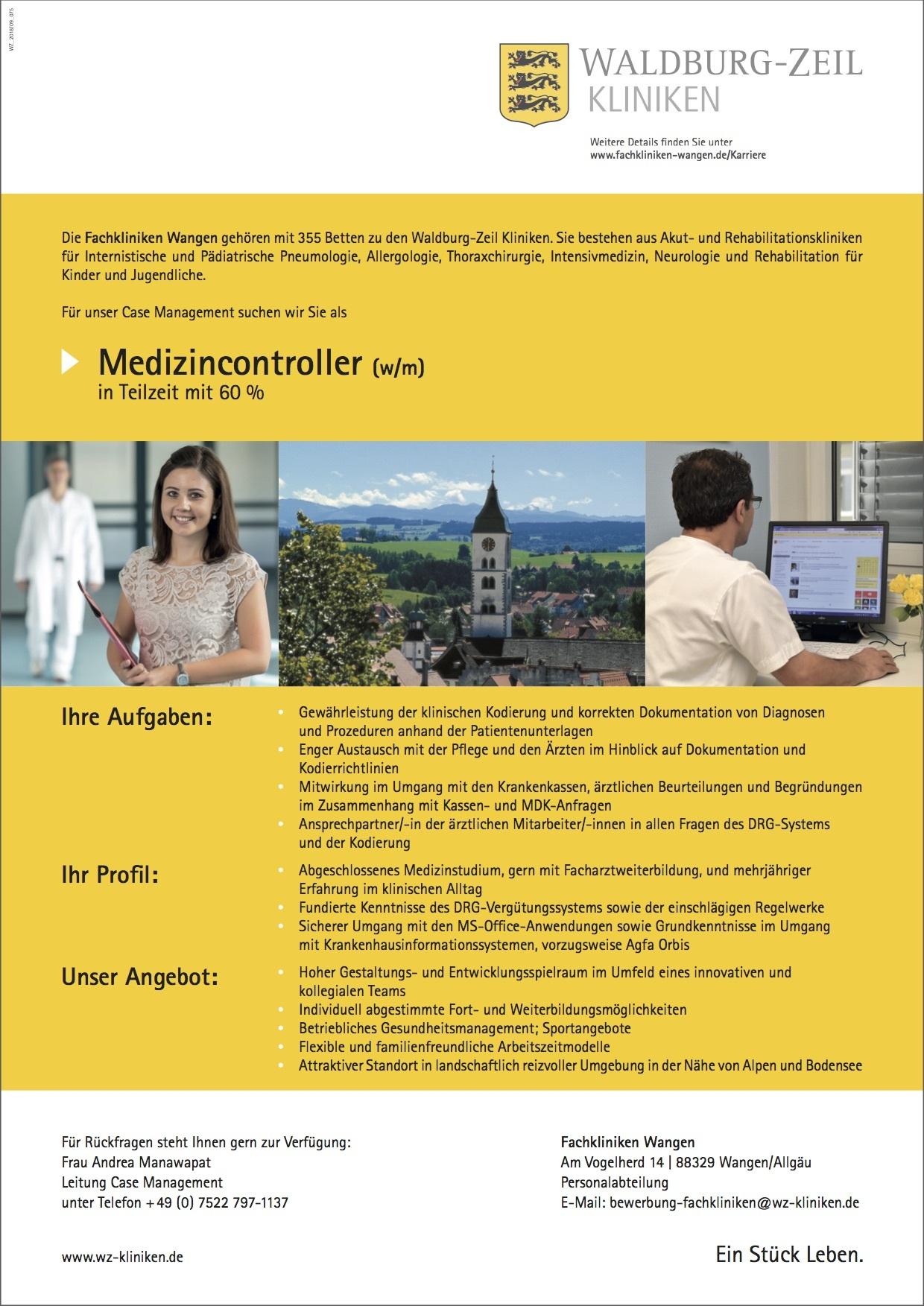 Medizincontroller (w/m)